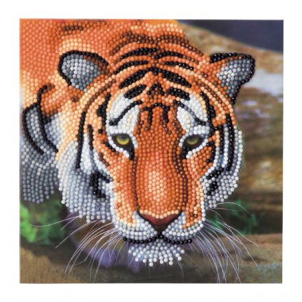 Crystal Art D.I.Y Tiger card kit